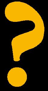 FAQ - Fragezeichen orange