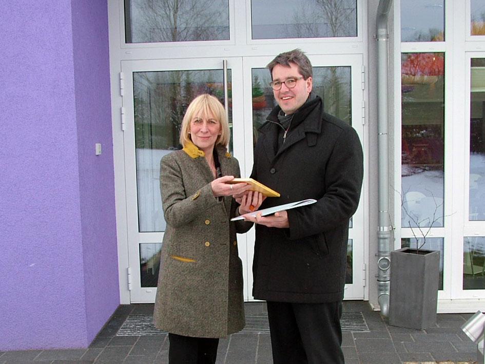 Oberbürgermeister der Stadt Goslar mit Christiane Redecke