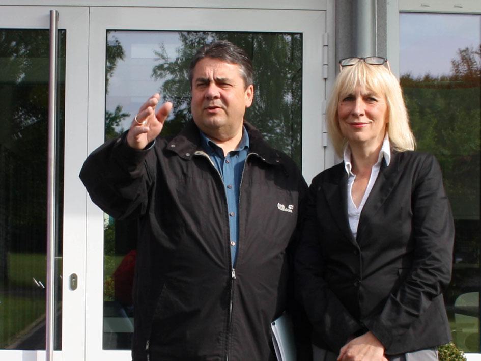 Sigmar Gabriel und Christiane Redecke