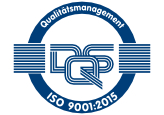 Logo Qualitätsmanagement ISO 9001-2015