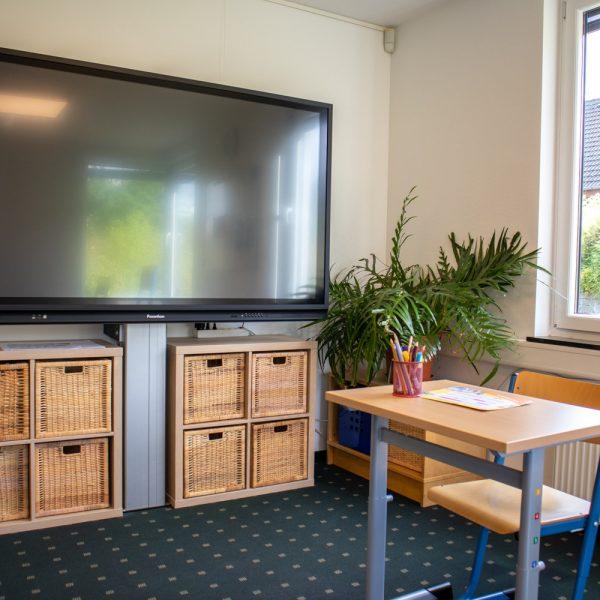 Lerngruppenzimmer mit SmartBoard