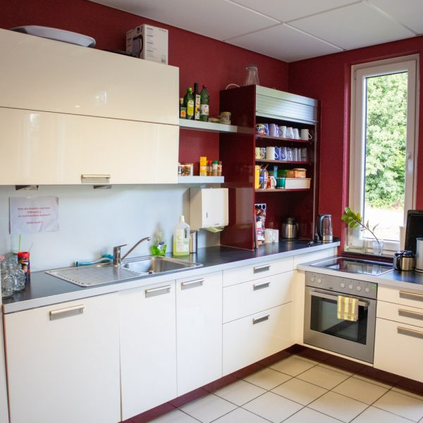 Küche in der Cafeteria